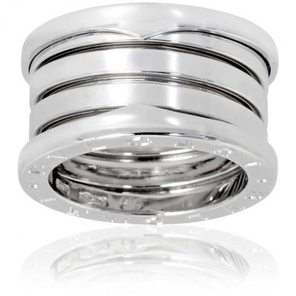 Bvlgari B.ZERO1 replica ring white gold 4 band ring