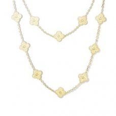 alhambra or jaune replique van cleef & arpels long collier