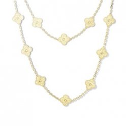 alhambra yellow gold replica van cleef & arpels long necklace