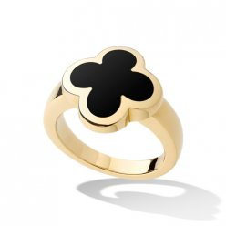 alhambra yellow gold replica van cleef & arpels onyx ring