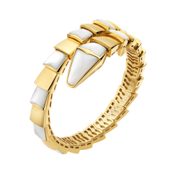 Bvlgari Serpenti replique Bracelet or jaune Hélice simple Avec nacre
