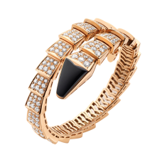 Bvlgari Serpenti replique Bracelet Or rose Onyx noir Avec des diamants