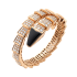 Bvlgari Serpenti replica Bracelet pink gold black onyx with diamonds
