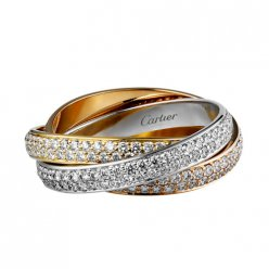 trinity de Cartier Replik 3-gold Ring 3 ringe Bedeckter Diamant N4227600