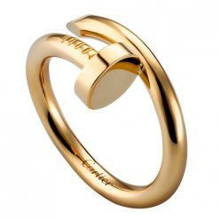 cartier replica juste un clou ring plated real yellow gold B4092600