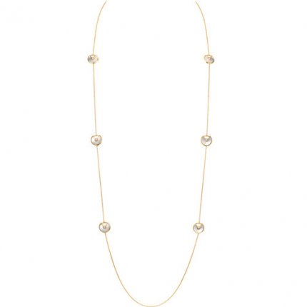 amulette de cartier replique or jaune Collier 6 nacre blanche 6 diamants pendentif