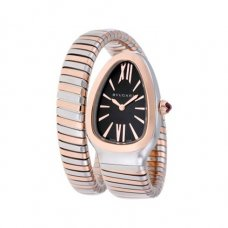 Bvlgari Serpenti Tubogas fake watch two-tone pink gold bracelet