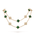 alhambra yellow gold replica van cleef & arpels malachite round diamonds long necklace