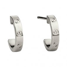 cartier fake love white gold earring screw design B8028900