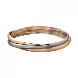 Trinity de Replik Cartier Drei ring 3-gold Armband B6013302