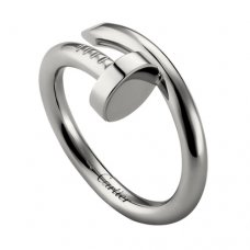 cartier fake juste un clou ring plated real white gold B4099200