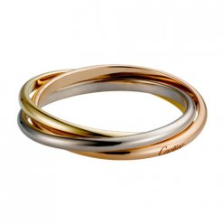 trinity de Cartier fake 3-gold ring titanium steel 3 rings B4088900