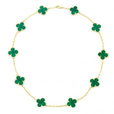 alhambra or jaune faux van cleef & arpels malachite collier