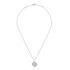 alhambra white gold replica van cleef & arpels round diamonds pendant