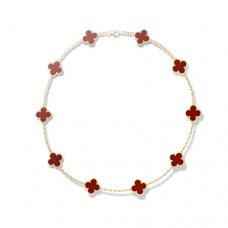 alhambra or jaune replique van cleef & arpels carnelian collier