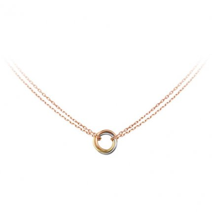 trinity de Cartier fake pink gold necklace 3-gold pendant B7218200