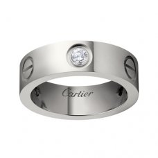 cartier faux love or blanc bague Mosaïque trois diamants Version large