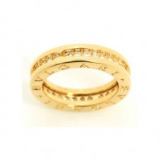 Bvlgari B.ZERO1 replica ring yellow gold 1 band with diamonds