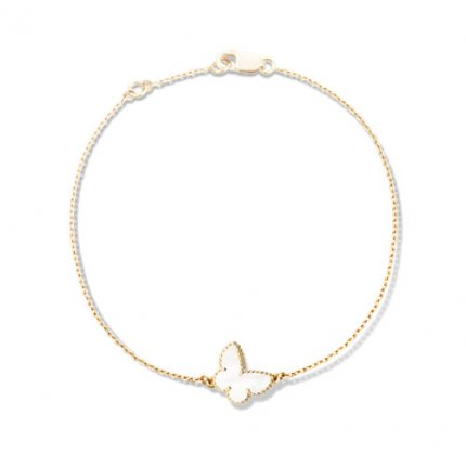 butterfly or rose replique van cleef & arpels white mother-of-pearl bracelet