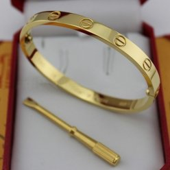 cartier replica love bracelet yellow gold steel with screwdriver