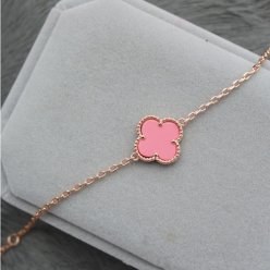 alhambra oro rosa replica van cleef & arpels pink mother-of-pearl bracciale