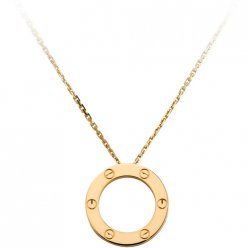 cartier fake love necklace yellow gold screw design with pendant