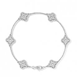 alhambra or blanc replique van cleef & arpels 6 round Diamants bracelet