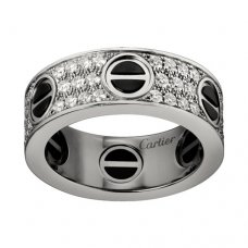 cartier faux love bague or blanc Diamant couvert Version large