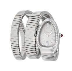 Bvlgari Serpenti Tubogas faux montre or blanc Double hélice Avec des diamants