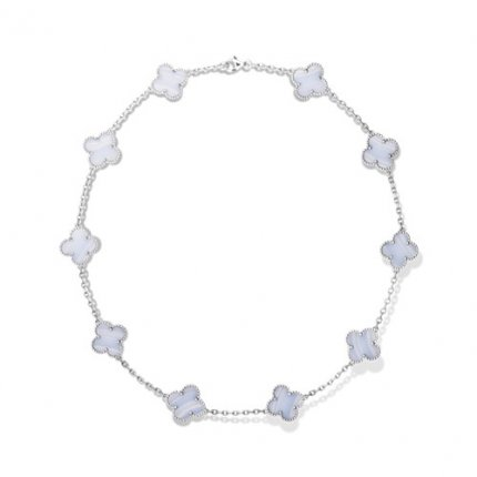 alhambra or blanc faux van cleef & arpels chalcedony collier