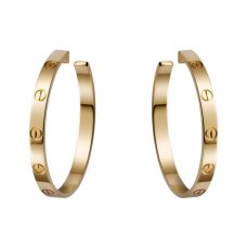 cartier replica love yellow gold screw design earring B8028200