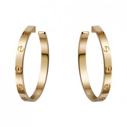 cartier replique love or jaune Conception de vis boucle d'oreille B8028200