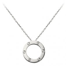 cartier replica love necklace white gold screw design with pendant