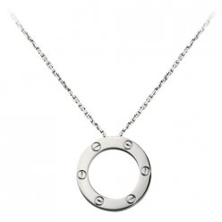 cartier replique love Collier or blanc Conception de vis Avec pendentif
