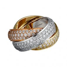 trinity de Cartier copy 3-gold ring 3 rings covered diamond N4210800