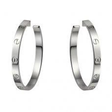 cartier fake love white gold screw design earring B8022800