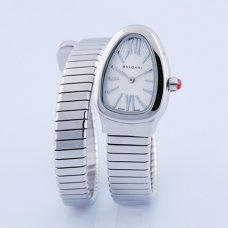Bvlgari Serpenti Tubogas fake watch white gold Single helix bracelet