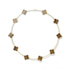alhambra or jaune replique van cleef & arpels tiger's eye collier