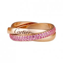 trinity de Cartier replica pink gold ring sapphire small models B4093100