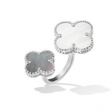 between the finger or blanc faux van cleef & arpels white gold bague