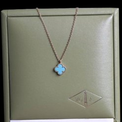 alhambra pink gold replica van cleef & arpels turquoise pendant