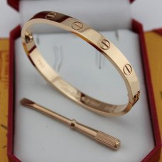 cartier copy love bracelet pink gold steel with screwdriver