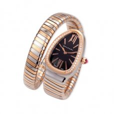 Bvlgari Serpenti Tubogas replique montre deux tons Or rose Avec des diamants