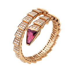 Bvlgari Serpenti replique Bracelet Or rose Avec tête rubellite Avec des diamants
