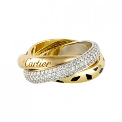 trinity de Cartier Replik 3-gold Ring Leoparddruck Bedeckter Diamant N4226500