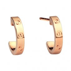 cartier copy love pink Gold earring screw design B8029000
