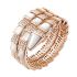 Bvlgari Serpenti replique Bracelet Or rose Avec nacre Et diamants
