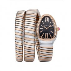 Bvlgari Serpenti Tubogas replica watch two-tone Double helix with diamonds