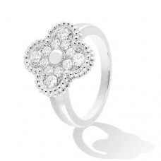 alhambra or blanc replique van cleef & arpels 12 round diamond bague