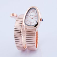 Bvlgari Serpenti Tubogas fake watch pink gold Single helix bracelet